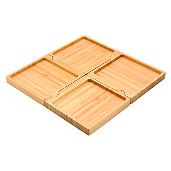 Petisqueira de Bambu Quadrado Desmontavel Oikos