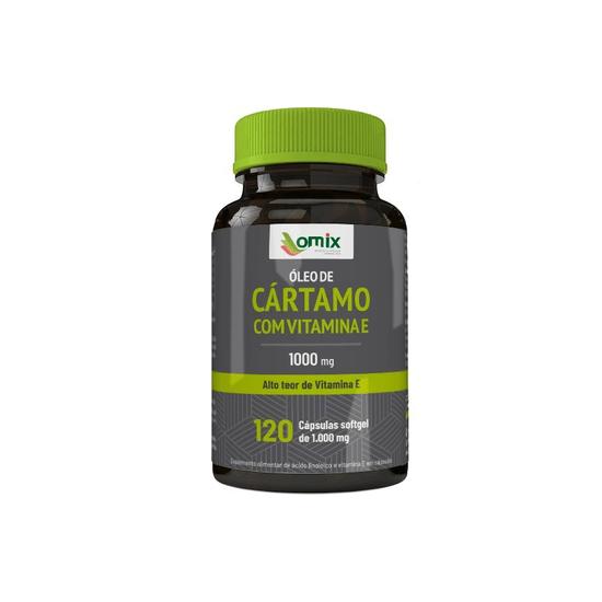 Óleo de Cartamo Com Vitamina e - 1g Orientmix - 120 Capsulas