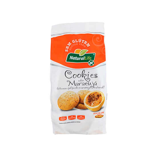 Cookie de Maracujá Sem Glúten Natural Life - 180g