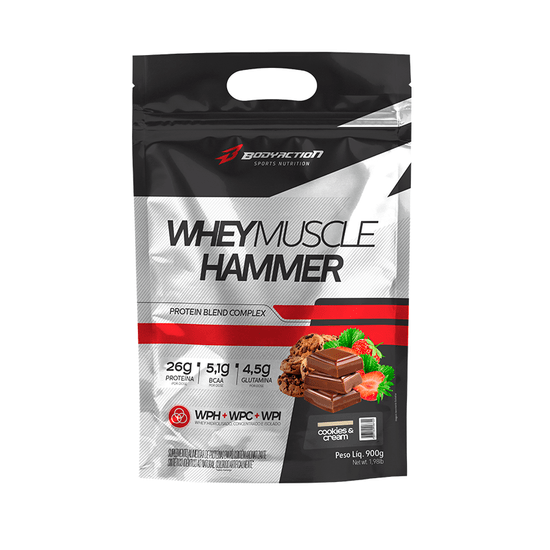 Whey Muscle Hammer Cookies And Cream Body Action - 900g